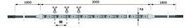 LED Bänder HALEMEIER Versa Inside 2x120 / 12 V MultiWhite