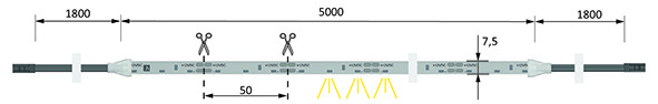 LED-Bänder HALEMEIER Versa SideView 60 12 V