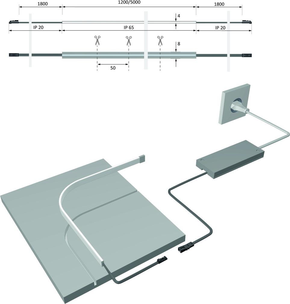 LED Bänder HALEMEIER Versa Super Plus Mini / 12 V