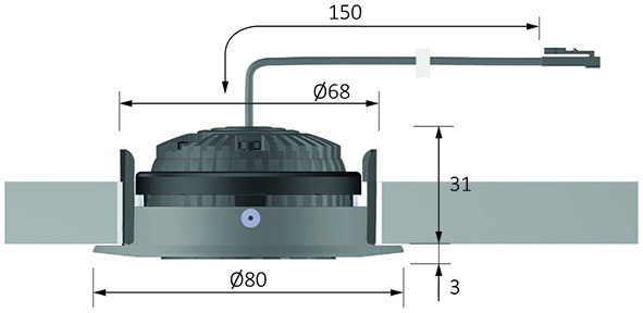 LED Einbauleuchten HALEMEIER SuperSwing 12 V