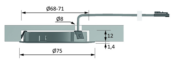 LED Ein-/Anbauleuchten HALEMEIER EcoPower L 12 V