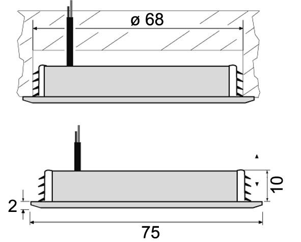 LED Ein-/Anbauleuchten L&S Nova round 12 V