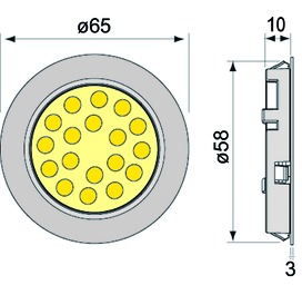 LED Ein-/Anbauleuchten 5er Set L&S Sunny II 12 V