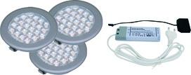 LED Ein-/Anbauleuchten 3er Set L&S Sunny II 12 V