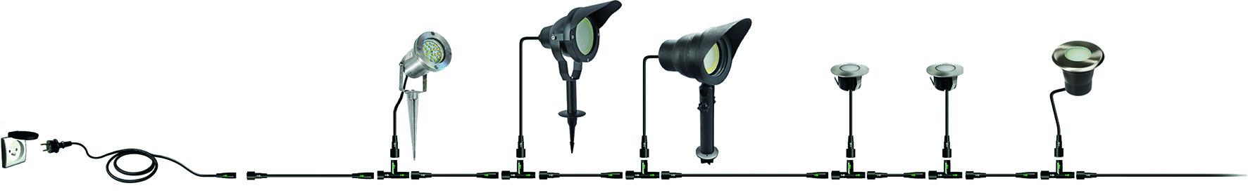 LED Terrassen Anbauleuchte EASY CONNECT