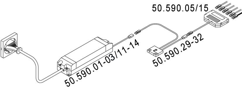 Berührungs-Dimmschalter L&S Anbau 12 / 24 V