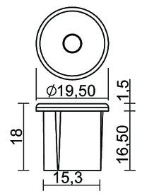 Berührungs-Dimmschalter L&S Einbau 12 / 24 V