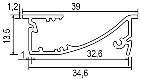 LED Einbauleuchten L&S Emotion Venice II 24 V, auf Mass konfektioniert inkl. Endkappen, Zuleitung links oder rechts