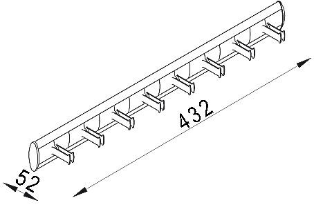 Gürtelhalter SERVETTO SELF SYSTEM, Länge 432 mm