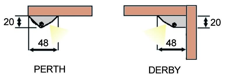 LED Anbauprofile L&S Perth/Derby mit Lichtblende