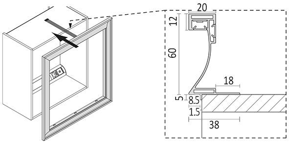 LED Spiegelrahmen L&S Emotion Frame 24 V