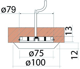 Einbauleuchtengehäuse ohne Leuchtmittel 230 V