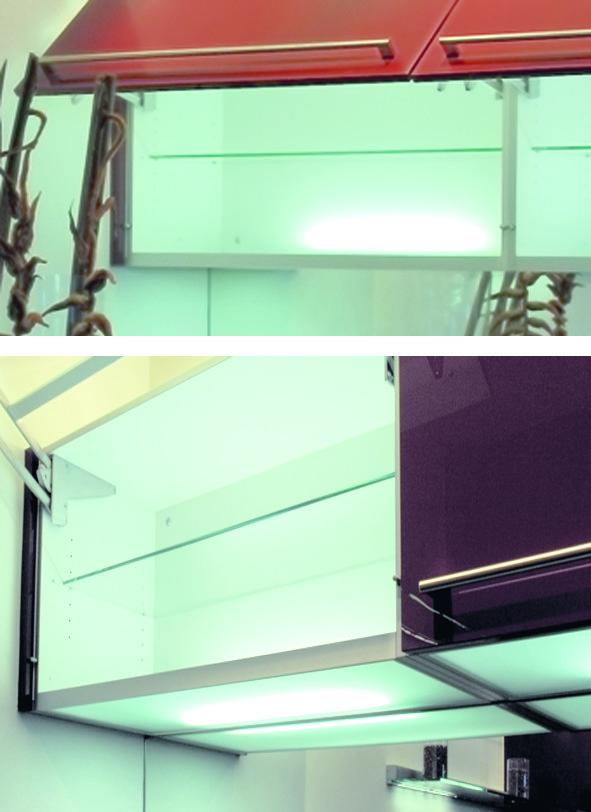 Lichtböden 230 V zur Korpusbodenmontage in Küchen