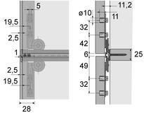 Schiebetürbeschläge HETTICH Slide Line 66, Forslide