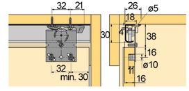 Schiebetürbeschläge Top Line 25/27, Inslide/Mixslide