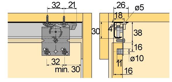 Schiebetürbeschläge HETTICH Top Line 25/27, Inslide/Mixslide