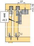 Schiebetürbeschläge HETTICH Top Line 110, Inslide/Mixslide