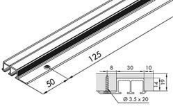 Doppellaufschiene EKU-CLIPO 16