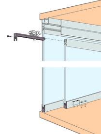 Schiebetürbeschläge EKU-Clipo 36 GPPK, Inslide / Festglas