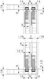 Schiebetürbeschläge HAWA-Miniroll 15/25, Inslide, 1-flüglig