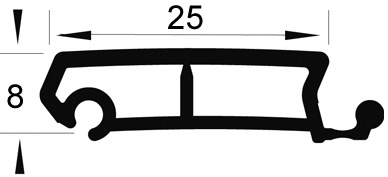 Rollladen Profilstäbe REHAU Metallic-Line 25 mm