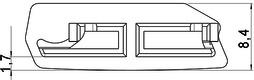Gleiter zu Profilstab Metallic-Line