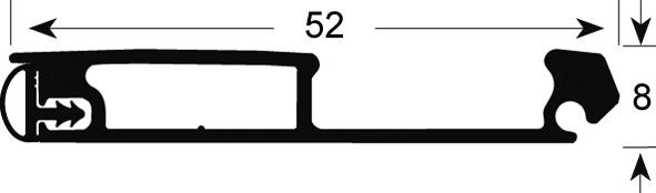 Kombigriffleiste Metallic-Line