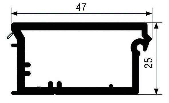 Abschlussleisten (Griffprofil) REHAU RAUVOLET E 23