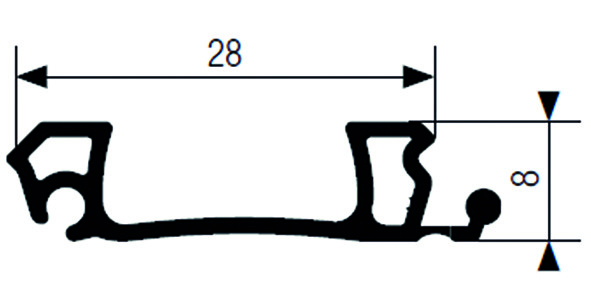 Mittelgriffleiste RAUVOLET E 23