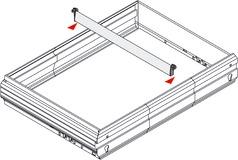 Zwischenstege für Hängeregistratur-Rahmen