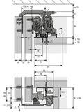 Schiebetürbeschläge HETTICH TopLine XL, Forslide, gedämpft