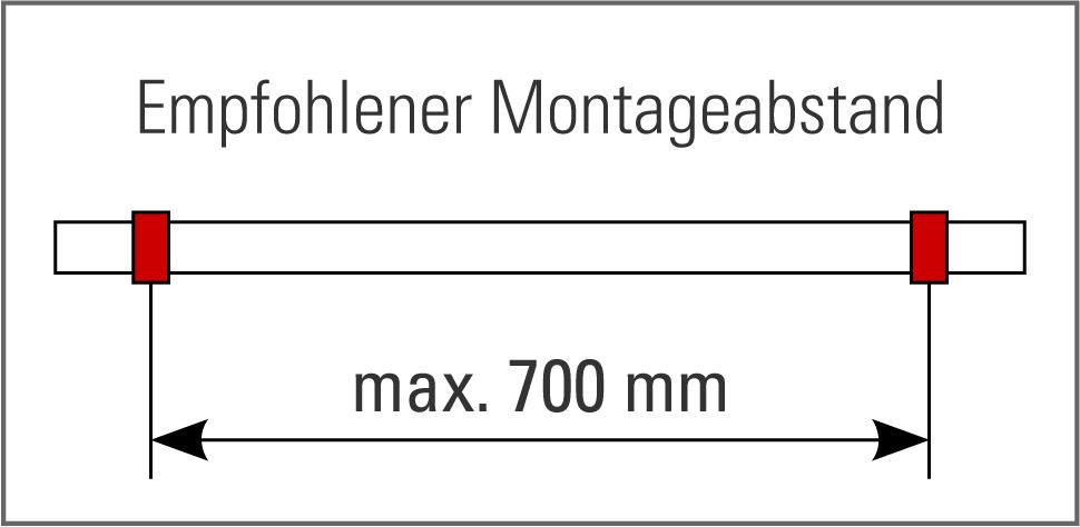 Fusslaufstützen 90° für Fussreling an Bartheken