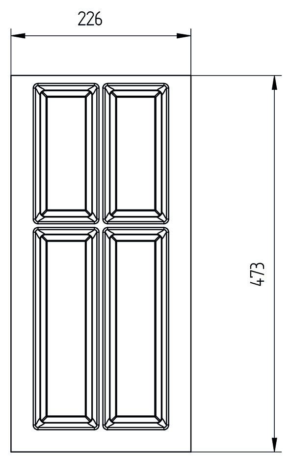 Besteckeinsatz CLASSICO für BLUM LEGRABOX pure M