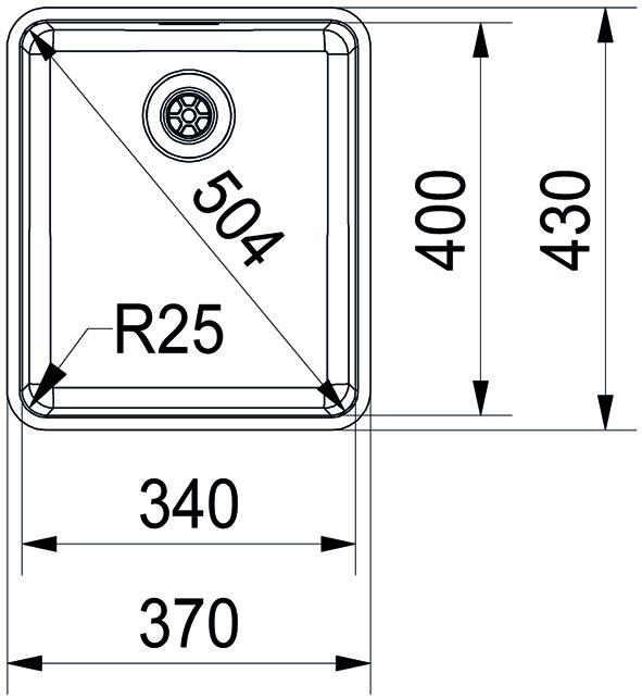 Unterbauspülen FRANKE Kubus KBX 110 34