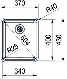 Einlegespülen FRANKE Kubus KBX 210 / 610 34