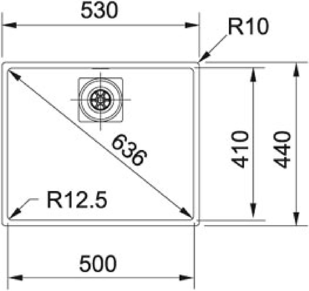 Unterbauspülen FRANKE Centinox CMX 110 50