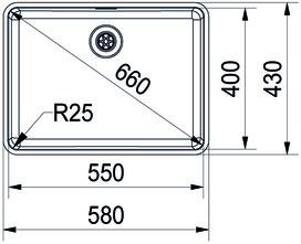Unterbauspülen FRANKE Kubus KBX 110 55