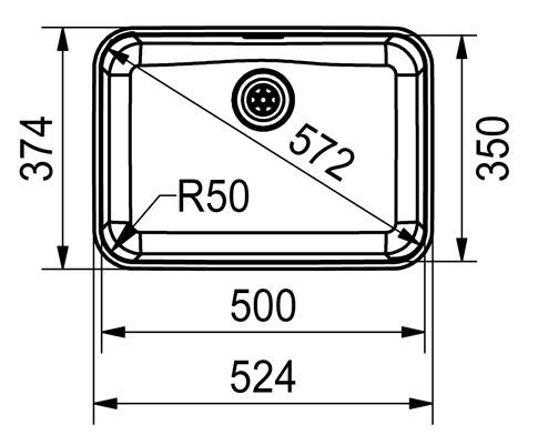 Unterbauspülen FRANKE Largo LAX 110 50 (35)
