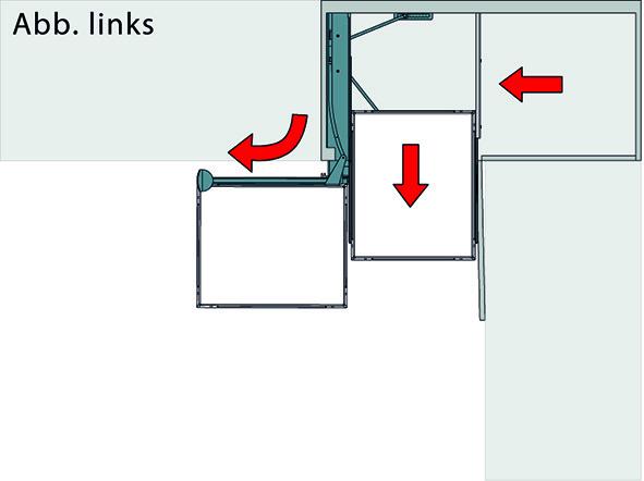 Eckauszug-Kombinationen 90° PEKA Magic Corner Comfort