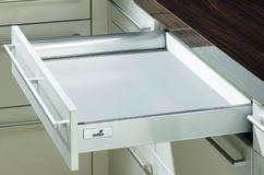 Schubkasten Zargensystem HETTICH InnoTech, silber/weiss, Zargenhöhe 70 mm