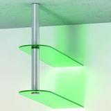 Abhängesysteme ø 50 mm für 1 oder 2 Holz- oder Glastablare