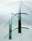 LED Abhängesysteme ø 50 mm für 1 oder 2 Holz- oder Glastablare