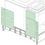 Kassettentürbeschlag 3-tlg. BOXX 55