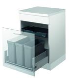 Kehrichtsystem MÜLLEX ZK-TRIOXX 3 x 16 für BLUM Tandembox