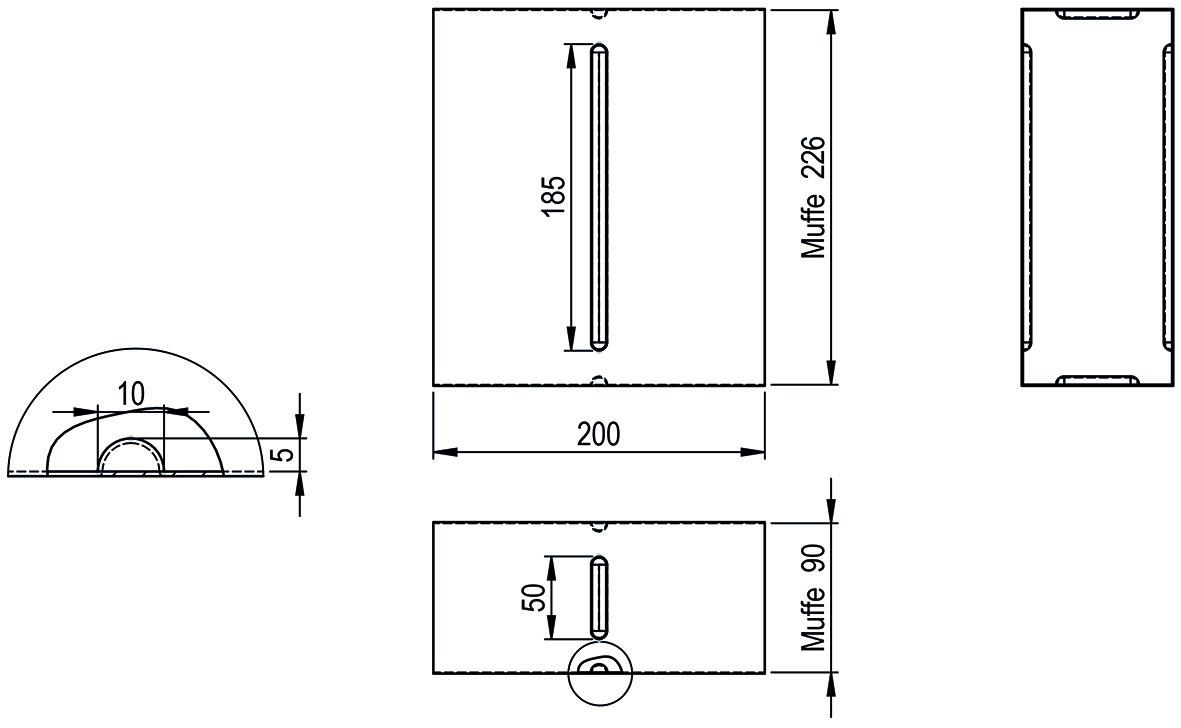 Steckverbinder HASTRAG für Flachkanal