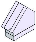 Bogen 45/90° für Flachkanal