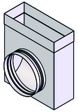 Anschlussstück symmetrisch zum Einlegen mit Leitblech für Flachkanal