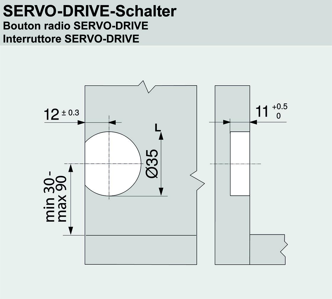 Funk-Schalter BLUM SERVO-DRIVE