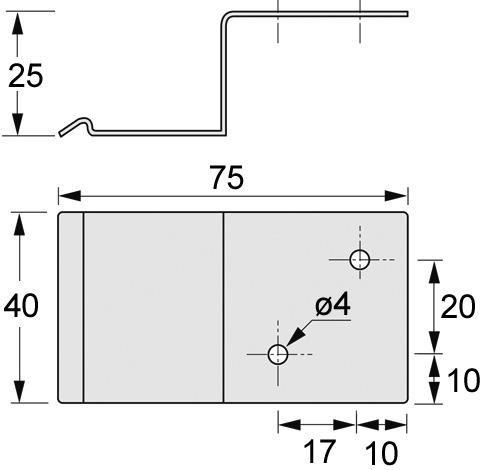 Verteilerhalter (5) HETTICH easys