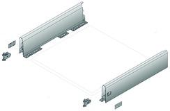 Flexible Schubkasten-Sets HETTICH ArciTech, silber